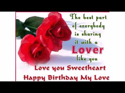 Birthday SMS for Lover - 55 Romantic Birthday Wishes to Lover