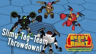 Ready2Robot | Slime Robot Battles | Episode 4: Slimy Tag-Team Throwdown! | Cartoon Webisode for Kids