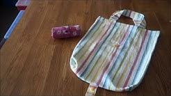 zusammenrollbare Einkaufstasche einfach und schnell selber nähen