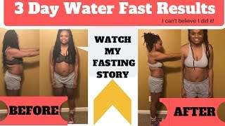 3 Day Water Fast Results! | NO FOOD for 3 Days | Here's What Happened