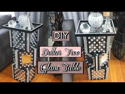 DIY DOLLAR TREE GLAM TABLE | DIY HOME DECORATING IDEA 2019