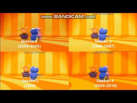 The Backyardigans Theme Song Seasons 1-4 Comparison