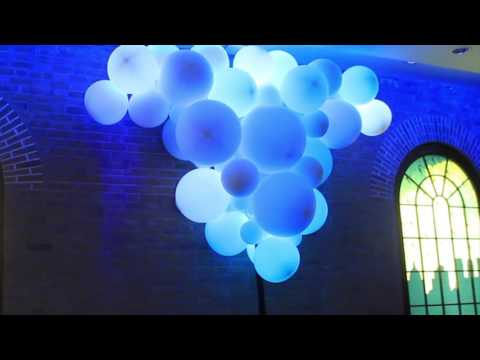 Glowing Balloons - Interactive Balloon Installation