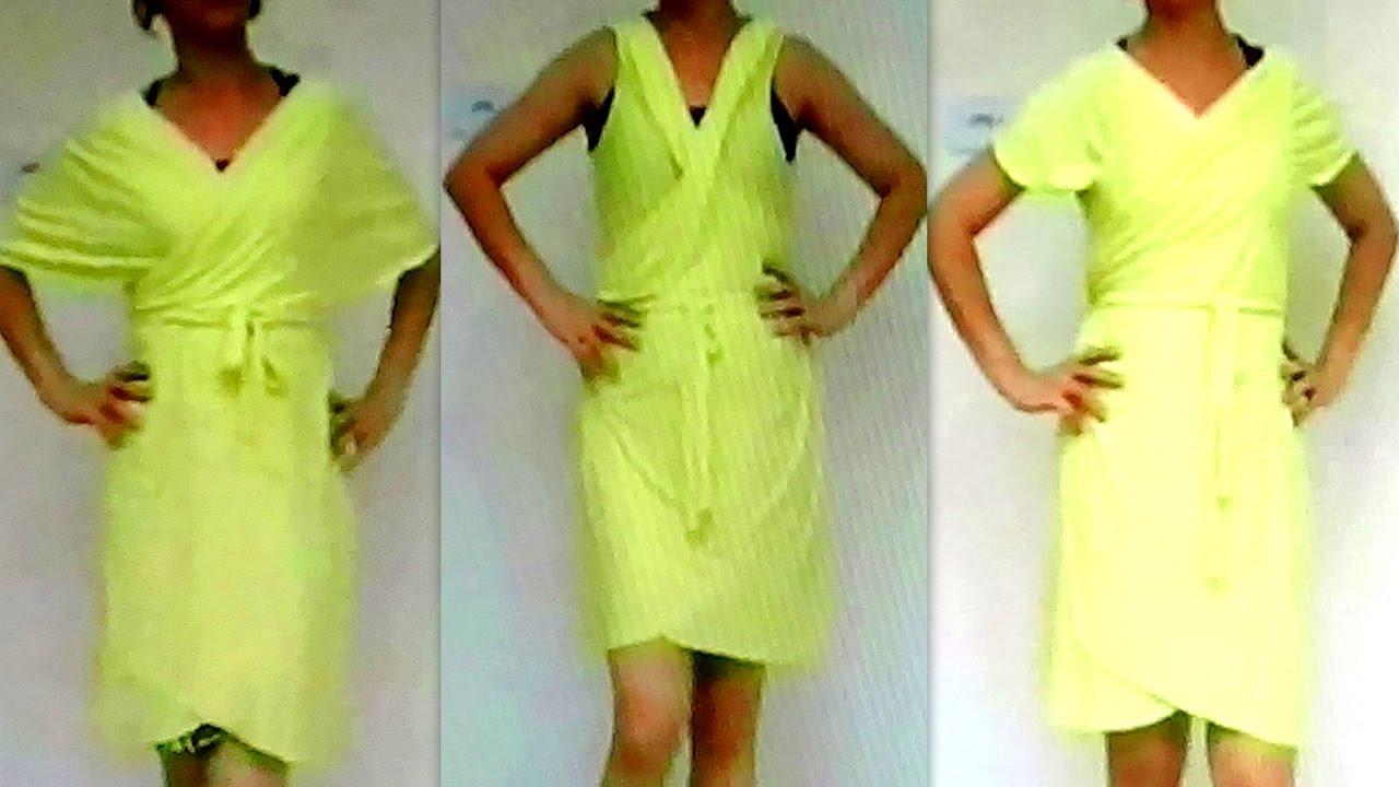 7c6ff1764 DIY Como fazer Vestido Multiuso Sem Costura - YouTube
