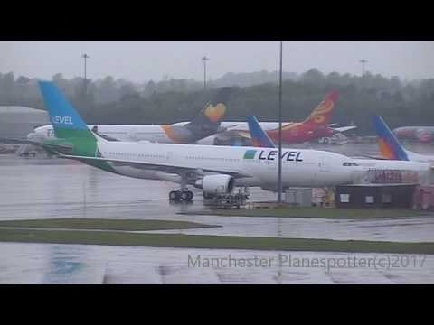Level Airlines Airbus A330-202 EC-MOU Parked Up At (MAN) Manchester Airport On 13/05/2017