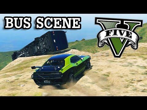 GTA V - Fast and Furious 7 Bus Scene