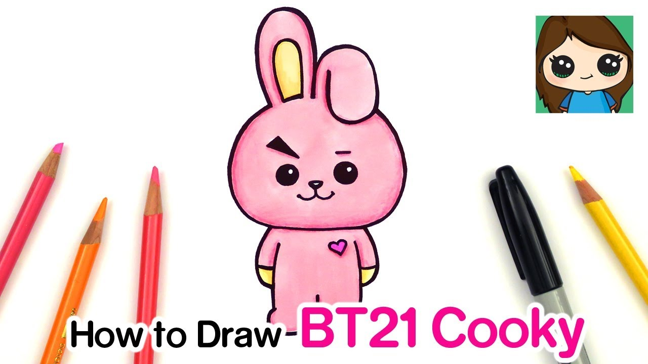 How To Draw Bt21 Cooky Bts Jungkook Persona Youtube