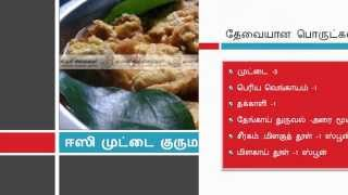 Easy Egg Korma - ஈஸி முட்டை குருமா - Manakkumsamayal