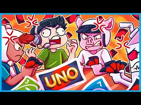 How *NOT* to play Uno... (Uno Funny Moments & Rage!)