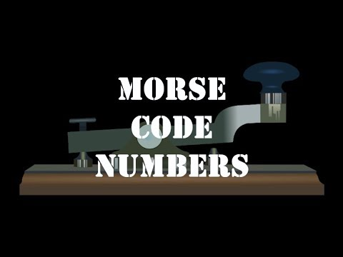 Morse Code Numbers