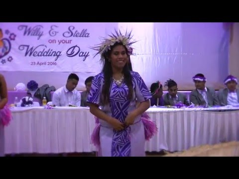 Willy & Stella Wedding - Bride & Bridesmaid dance performance - Kiribati Island style