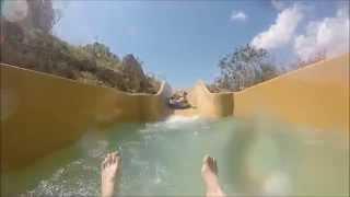 mallorca aqualand cobra and rapids gopro  2015 waterpark