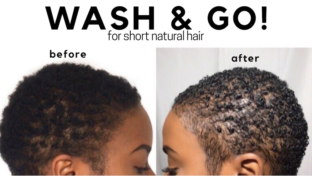 Wash N Go On Short Natural Hair Twa Big Chop Nia Hope
