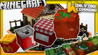 Minecraft - More food mod in vanilla Minecraft 1.9 in two commands | 10 new edible recipes!