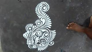 SUPER FIRST ALPANA DESIGNS/ALPONA WITH BRUSH EFFECT/ KOLAM DESIGNS/ RANGOLI DESIGNS/ MUGGULU DESIGNS