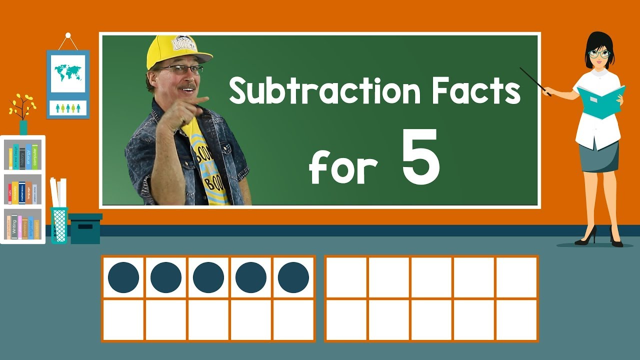 Practice Our Subtraction Facts for 5 | Subtraction Song | Math Song ...