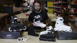 USD Aeon 60mm White and 72mm Black Skates