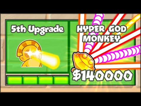 5TH TIER UPGRADES MOD - THE HYPER MONKEY SUN GOD | Bloons TD