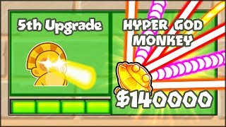 5TH TIER UPGRADES MOD - THE HYPER MONKEY SUN GOD | Bloons TD Battles Hack/Mod (BTD Battles)