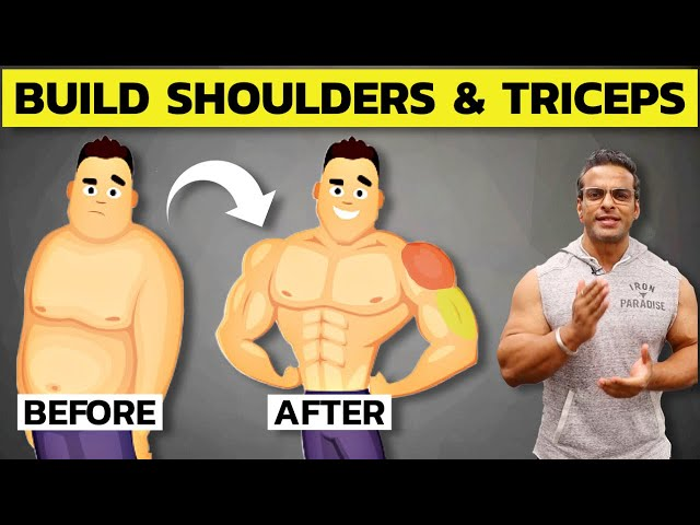 Best Shoulder & Tricep Workout For Mass | 8 Rep Challenge for Muscle Building | Yatinder Singh