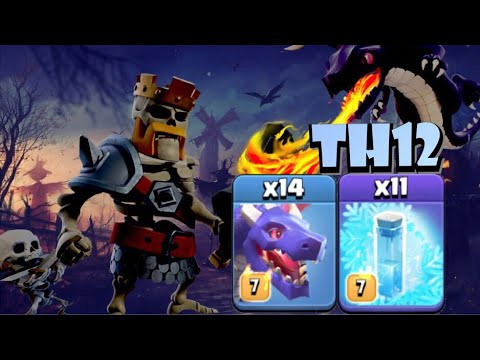 *NEW STRATEGY* TH12 FROZEN DRAGON Attack Strategy - Best TH12 Attack Strategies In Clash Of Clans