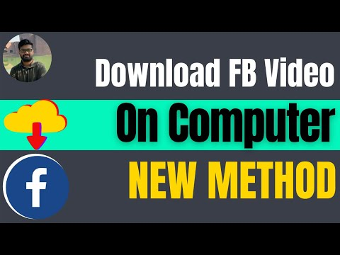 How to download video from facebook to computer 2021 🔥HD