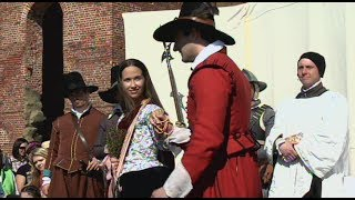 Matoaca, Pocahontas-John Rolfe Wedding at James Fort in Historic Jamestowne April 5, 1614 Part 2