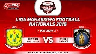UNIV. NEGERI JAKARTA  VS UNIV. BRAWIJAYA, LIGA MAHASISWA FOOTBALL NATIONALS 2018, 19 September 2018
