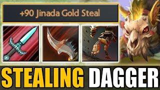 1 Dagger = 120 Gold [Stifling Dagger + Jinada] 1.1k GPM | Dota 2 Ability Draft