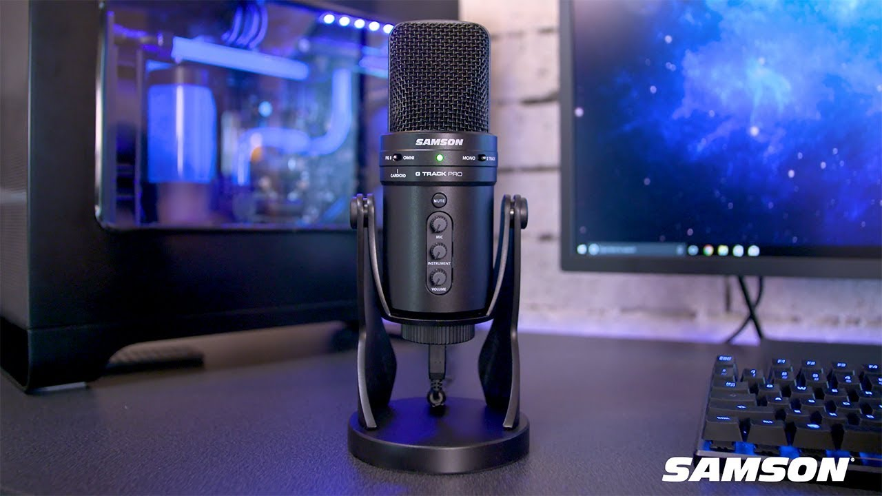 samson g track pro professional usb microphone with audio interface youtube. Black Bedroom Furniture Sets. Home Design Ideas