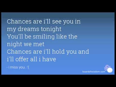 Chances Are,Bob Segar,Martina McBride instrumental