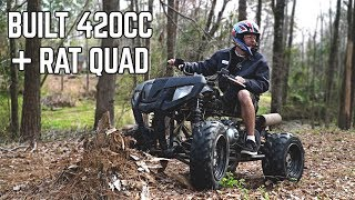 Stage 2 420cc ATV Swap! It RIPS!