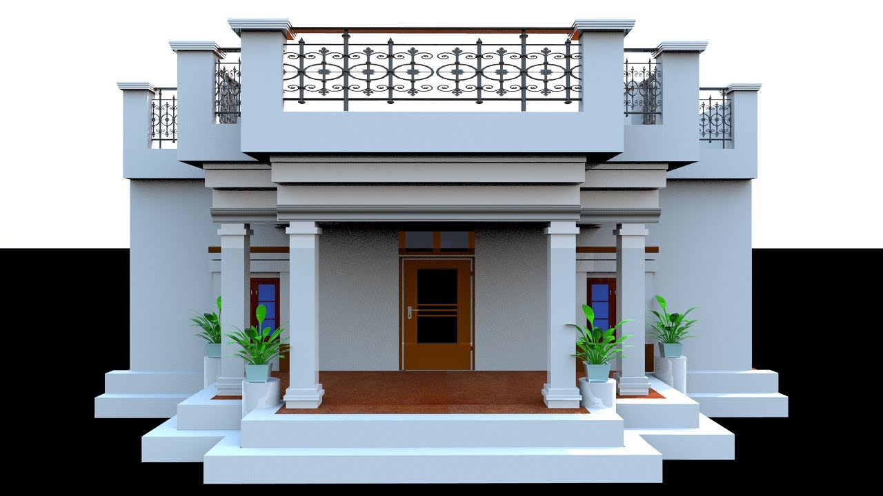 32 x 42 House Plan for front Elevation,32 by 42 modern home design,32 by 42 kothi design