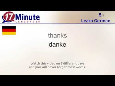 Learn German (free language course video)