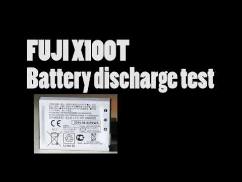 Fuji x100T battery discharge test