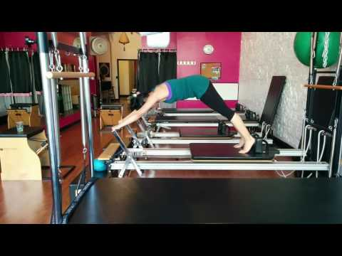 Pilates Upstretch on the Reformer ©Bodytonic Pilates