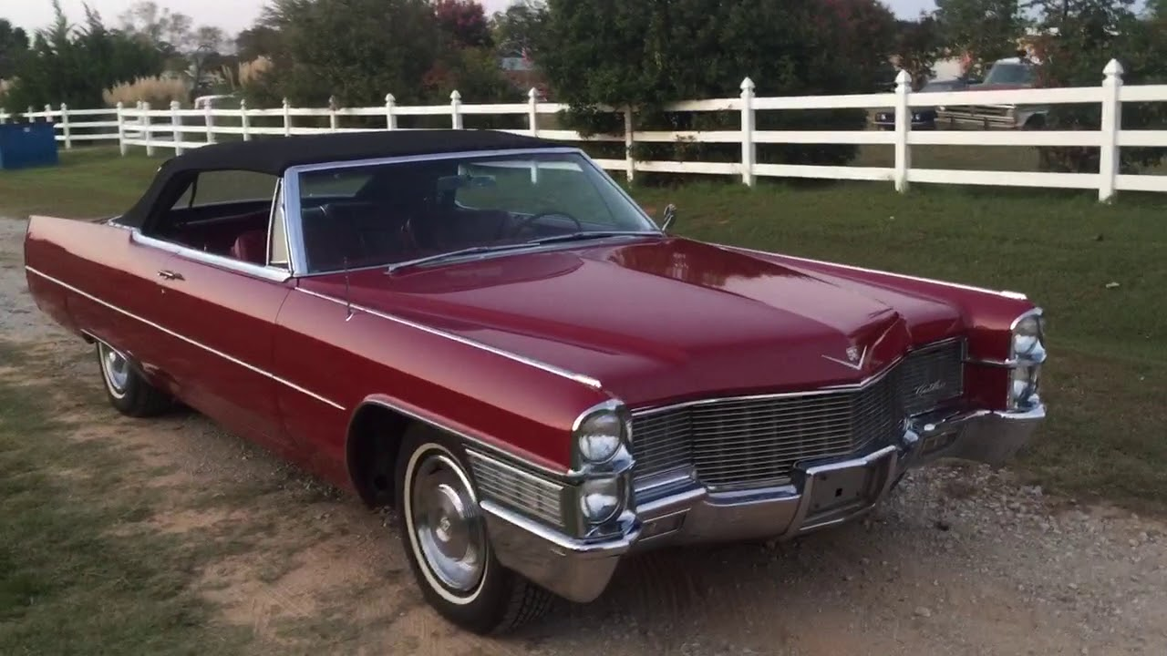 1965 cadillac deville convertible youtube. Black Bedroom Furniture Sets. Home Design Ideas