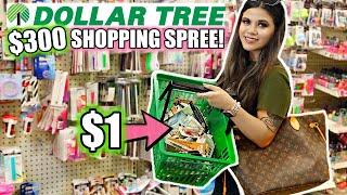 DOLLAR TREE GIRLY $300 SHOPPING SPREE! *I BOUGHT 300 THINGS*