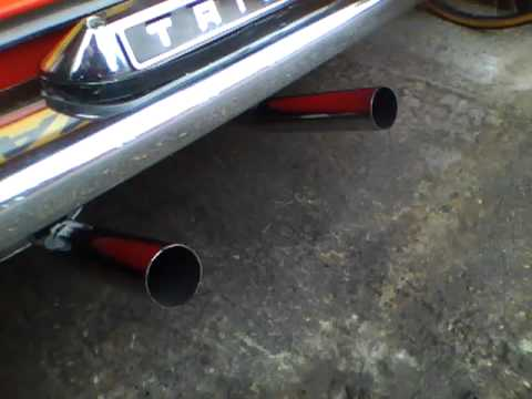 triumph spitfire exhaust - youtube