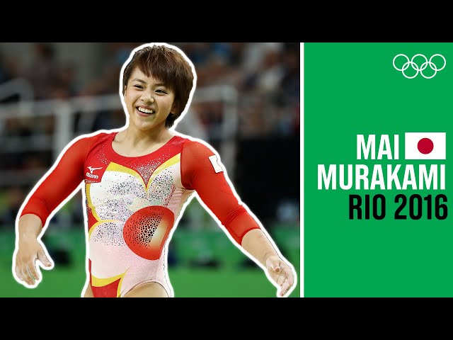 Mai Murakami 🇯🇵 is all smiles after her Floor Routine at Rio 2016!