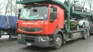 Ladungssicherung beim LKW wird von Polizei kontrolliert.wmv