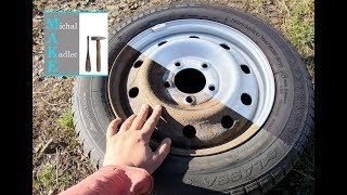 Rusted van wheels restoration