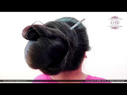 How To Make Classic Hair Bun   Khopa Hairstyle   Indian Style Hair Bun   Hair Bun   Updo   Bun