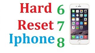 How To Factory Reset iPhone 6 6s  / Wipe / Format