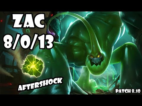 Zac 8/0/13 Jungle Gold Elo Ranked Patch 8.10