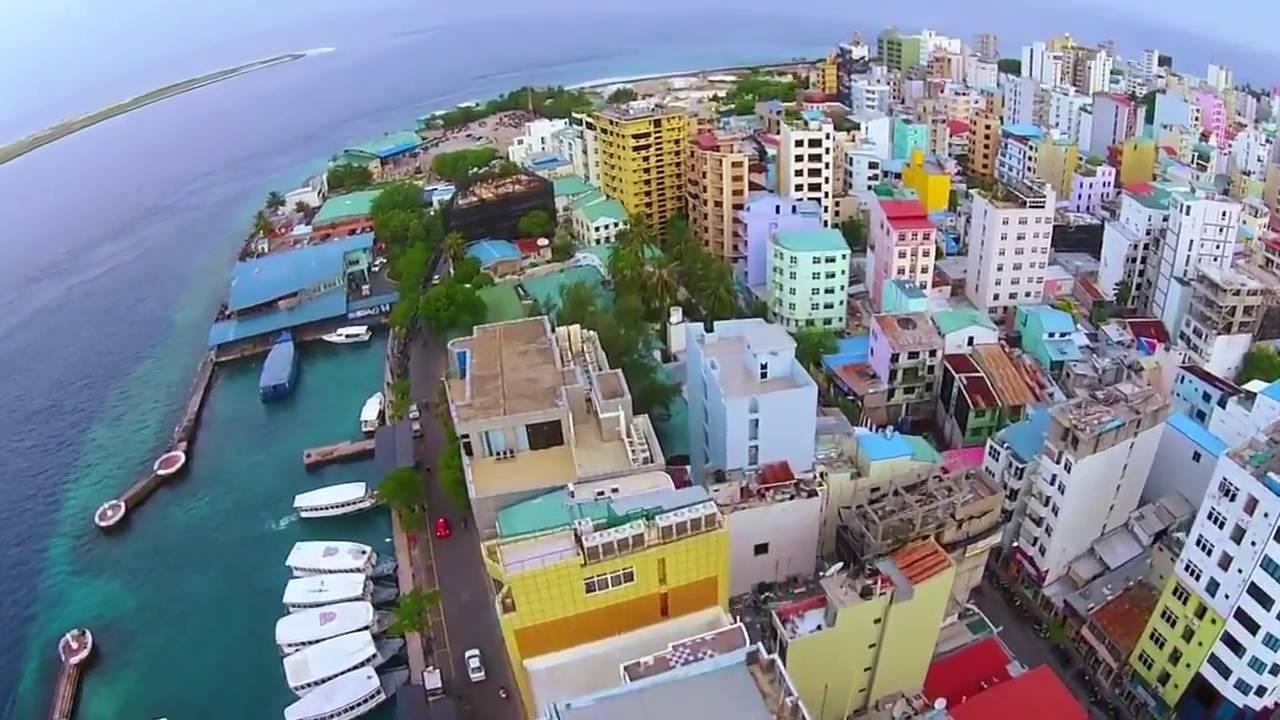 مشاهد ساحرة لمدينة ماليه الجميلة من الجو Male City Maldives عاصمة جزر المالديف Youtube