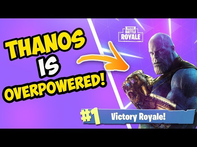 NINJA DESTROYING AS THANOS (20 KILLS VICTORY ROYALE) - Fortnite Streamer Moments Ep. 01