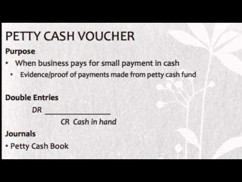 Petty Cash Voucher - Youtube