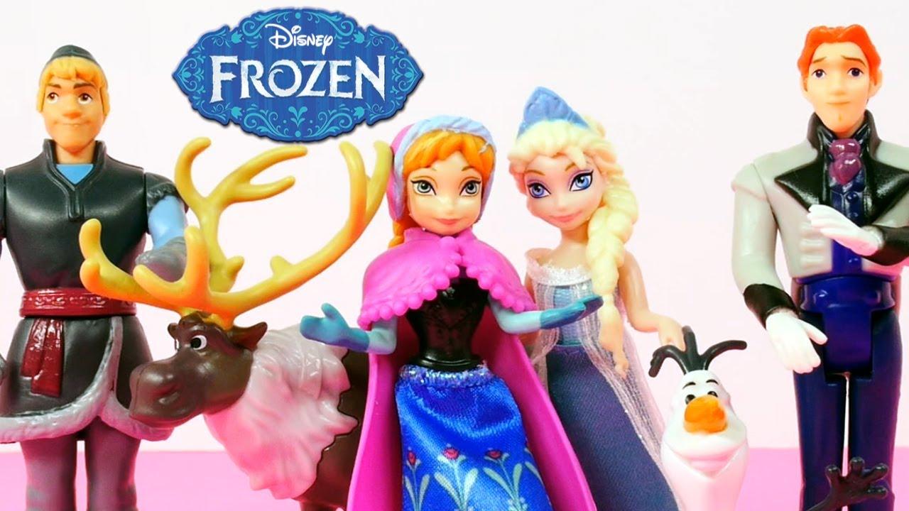 Disney frozen movie complete story set queen elsa princess anna olaf