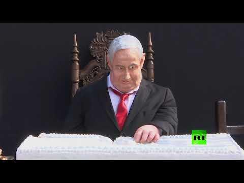 تمثال لرئيس الوزراء الإسرائيلي بنيامين نتنياهو، على هيئة -العشاء الأخير- للسيد المسيح